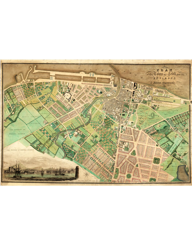 Framed Map Of Leith