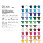 Heavy Cotton T-Shirt Colours