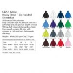 Hoodie Colour Chart