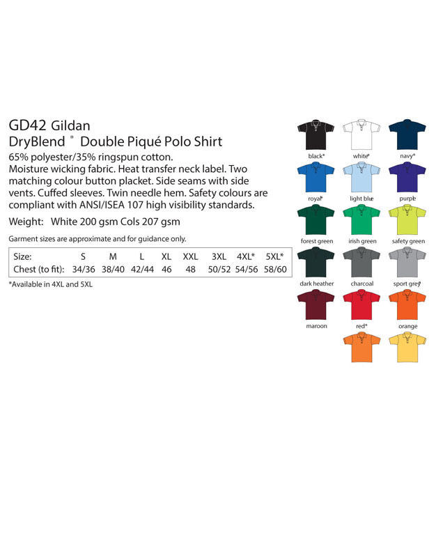 Polo Tshirt Colour List